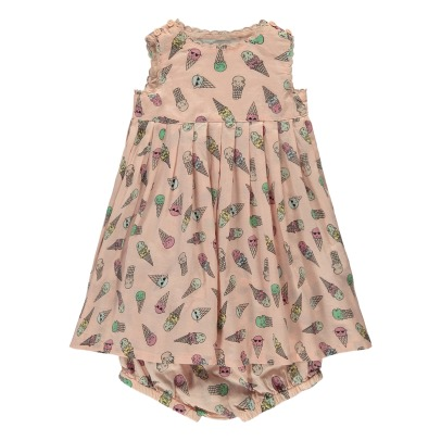 Stella McCartney Kids Flossie Ice Cream Dress + Bloomers-listing