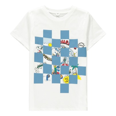 Stella McCartney Kids T-shirt mostri a scacchi Arrow -listing