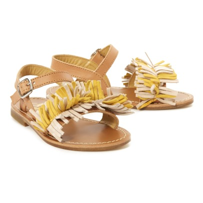 Gallucci Small Fringe Open-Toe Sandals-listing
