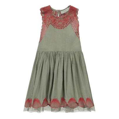 Stella McCartney Kids Bay Embroidered Shell Dress-listing