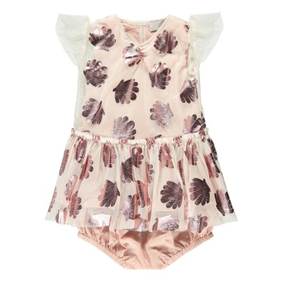 Stella McCartney Kids Bellie Shell Mesh Dress + Bloomers-listing