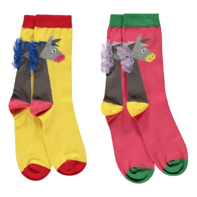 Stella McCartney Kids Rusty Donkey Fringed Socks - Set of 2-listing