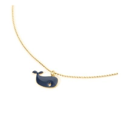 Titlee Maggie Whale Fine Gold Plated Brass Pendant-product