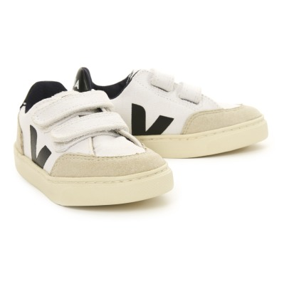 V-12 Plain Velcro Cuir and Suede Trainers Veja