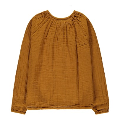 Numero 74 Naia Long Sleeve Blouse - Teen and Women's Collection Mustard-listing