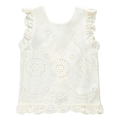 Stella McCartney Kids Moss Broderie Anglaise Top-listing