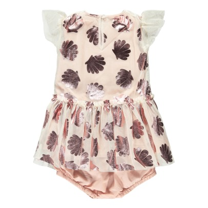 Stella McCartney Kids Abitoin tulle conchiglie + coulottes Bellie-listing