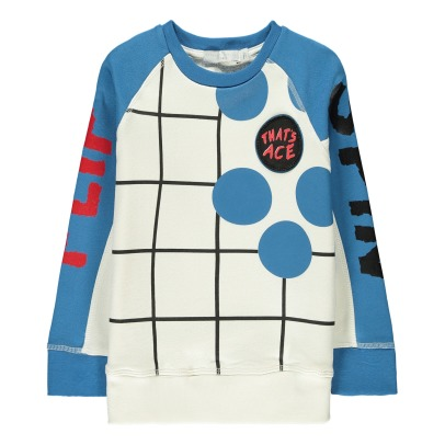 Stella McCartney Kids Thyme Checked Organic Cotton Sweatshirt-listing