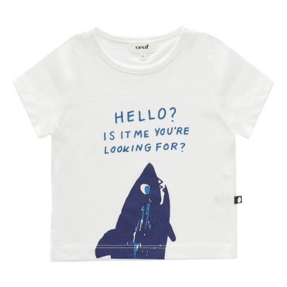 Oeuf NYC Shark Organic Pima Cotton T-Shirt-listing