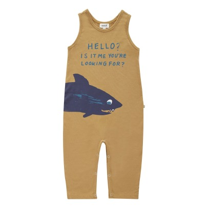 Oeuf NYC Organic Pima Cotton Shark Jumpsuit-listing