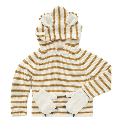 Oeuf NYC Pima Cotton Koala Striped Hoodie-listing