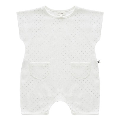 Oeuf NYC Organic Pima Cotton Dot Jumpsuit-listing