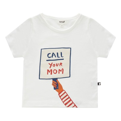 "Oeuf NYC T-Shirt Coton Pima Bio ""Call your mom""-listing"