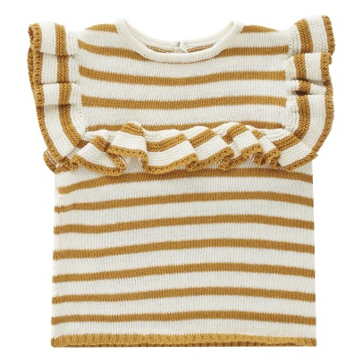 Oeuf NYC Top Maille Rayé Volants Coton Pima-product