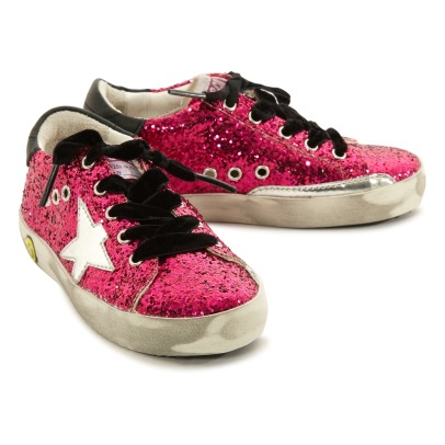 Golden Goose Silver Star Glitter Bottom Trainers-listing