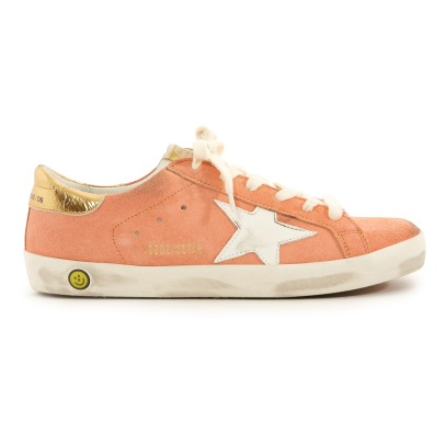 Golden Goose Superstar Gold Back Suede Low Top Trainers-listing