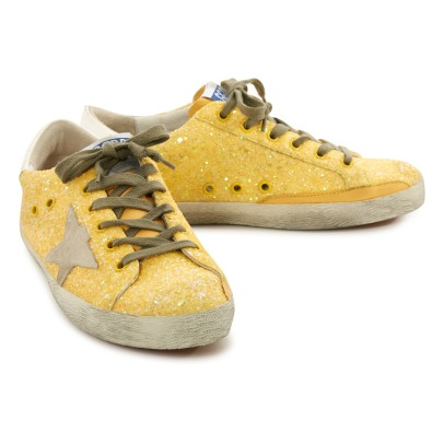 Golden Goose Superstar Star Suede Glitter Low Top Trainers-listing