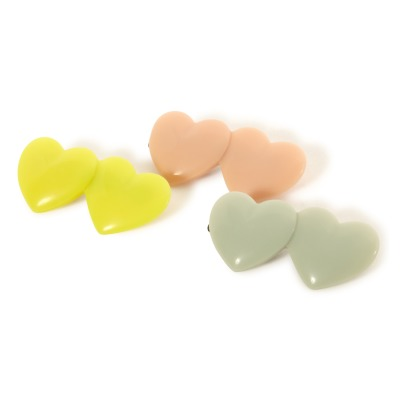 Bonton Set of 3 Heart Hair Grips-listing