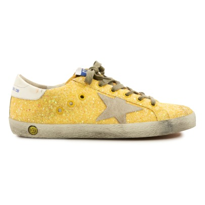 Golden Goose Deluxe Brand Superstar Star Suede Glitter Low Top Trainers-listing