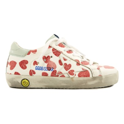 Golden Goose Deluxe Brand Sneakers superstar in pelle con motivo a cuori -listing