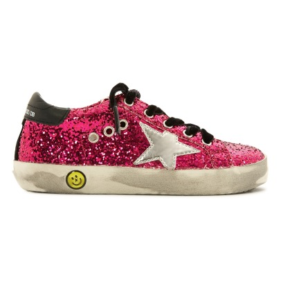 Golden Goose Deluxe Brand Silver Star Glitter Bottom Trainers-product