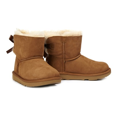 Ugg Mini Bailey Bow II Fur Lined Suede Bow Boots-listing