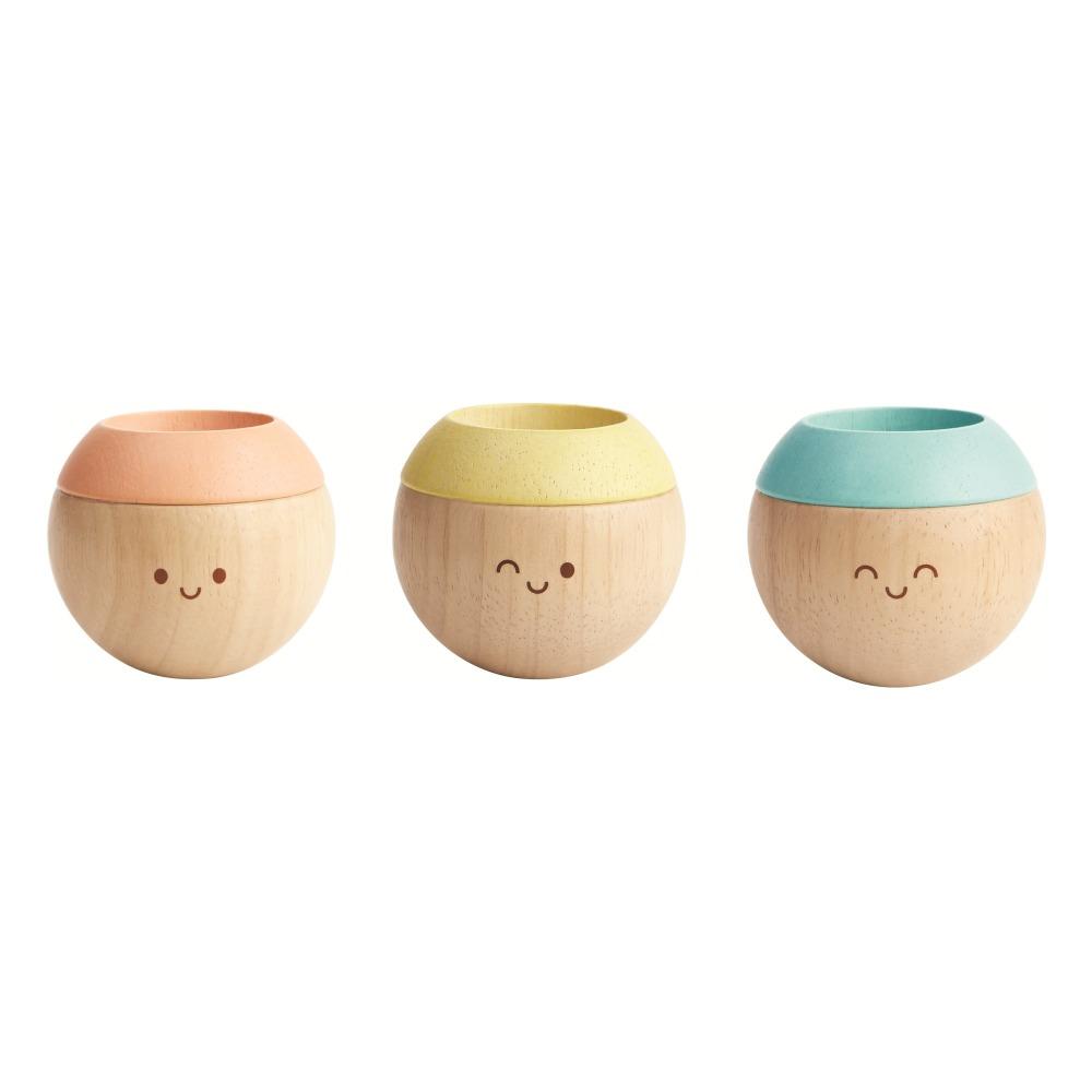 Têtes sensorielles pastel - Set de 3 Multicolore Plan Toys Jouet