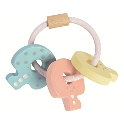 Plan Toys Pastel Key Ring Rattle-listing