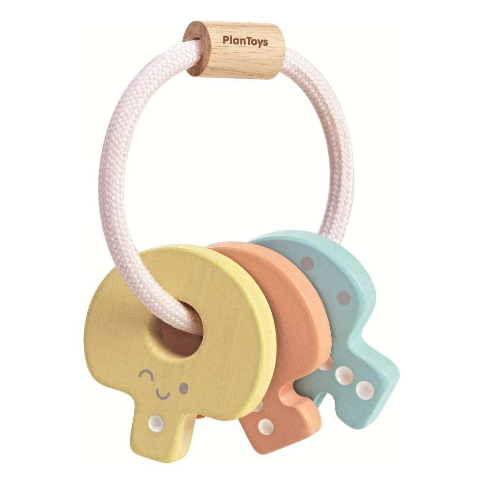 Hochet porte-clés pastel Multicolore Plan Toys Jouet et Loisir