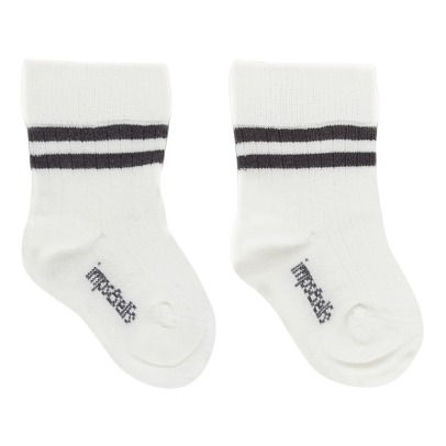 Imps & Elfs Ribbed Organic Cotton Stripe Socks-listing