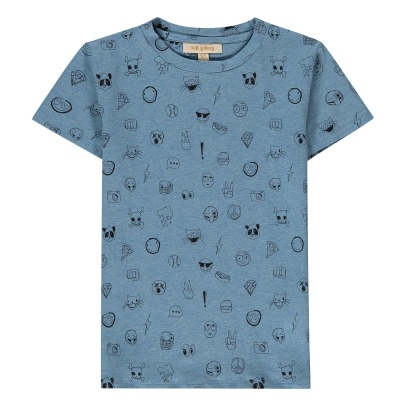 Soft Gallery Bass Emoji Flecked T-Shirt-listing