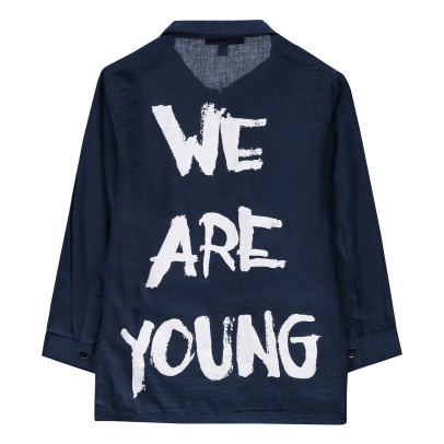 "Soft Gallery Camicia Aspen con graffito ""We are Young""-listing"