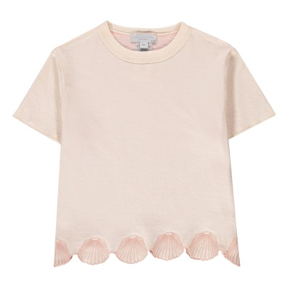 Stella McCartney Kids T-shirt Coton Bio Réversible Coquillages Brodés Alessandra-listing