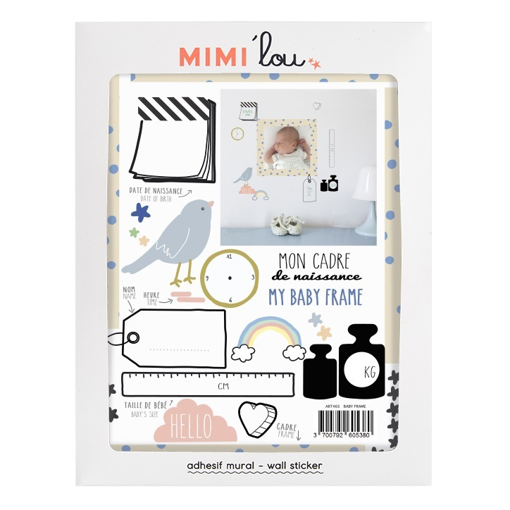 Pegatina vinilo Mi marco de nacimiento Multicolor MIMI\'lou Design