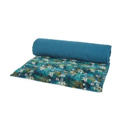Harmony Edredon Jungle en velours 85x200 cm-listing