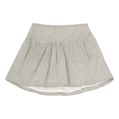 Ketiketa Ida Small Check Organic Cotton Skirt-listing