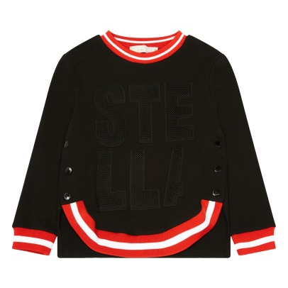 Stella McCartney Kids Daya Contrasting Edge Organic Cotton Sweatshirt-listing