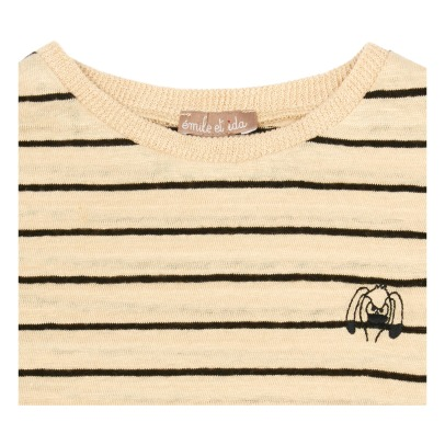Emile et Ida T-shirt a righe in lino-listing