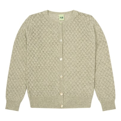 Fub Organic Cotton Hemstitch Cardigan-listing