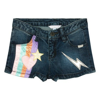 Little Marc Jacobs Heart Denim Shorts with Adjustable Waist-listing