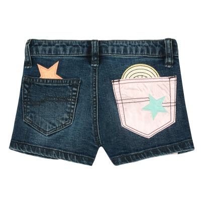 Little Marc Jacobs Short in denim con coulisse in vita-listing