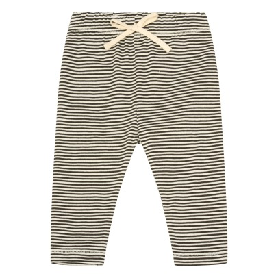 Gray Label Baby Organic Cotton Striped Leggings-listing