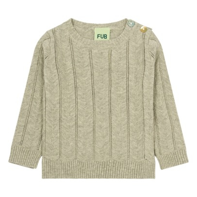Fub Organic Cotton Herringbone Jumper-listing