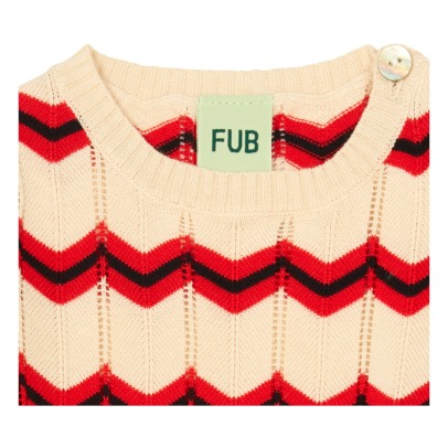 Fub Organic Cotton Hemstitch Herringbone Jumper-listing