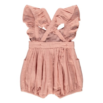 Louise Misha Clara Ruffled Embroidered Playsuit-product