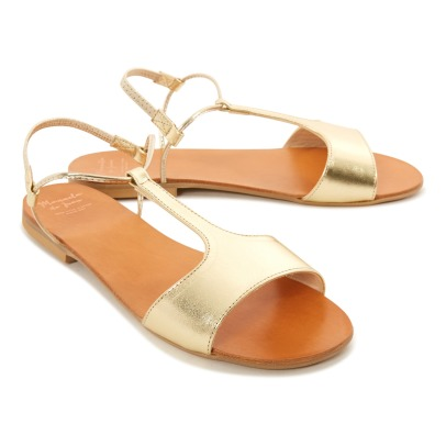 Manuela de Juan  Mikonos Calf Leather Sandals-product