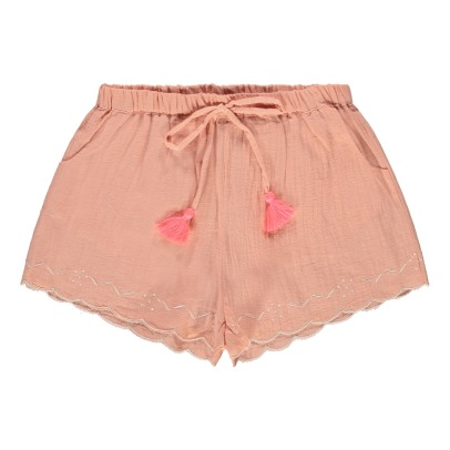 Louise Misha Nirmala Pompom Embroidered Shorts-listing