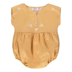 product-Tocoto Vintage Embroidered Ruffle Romper