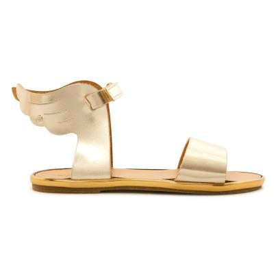 Sandales Métalisées Ailes