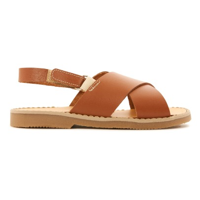 Babywalker Crossed Leather Velcro Sandals-listing